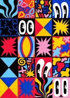 fondos art Pattern, Shape, Fluidity, Versions :: A Solo Show by Hattie Stewart Pop Art Patterns, Pattern Art, Abstract Pattern, Painting Patterns, 60s Art, Trippy Painting, Painting Abstract, Posca Art, 8bit Art