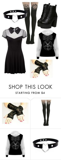 """emo schoolgirl"" by lucypenfold ❤ liked on Polyvore featuring Killstar"