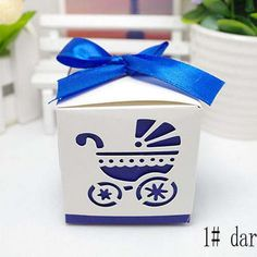 cute carriage candy chocolate gift box for wedding birthday baby shower tea party favor decoration Wh