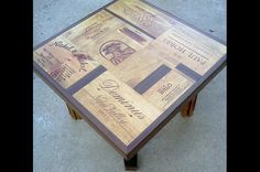 Wine crate end table idea
