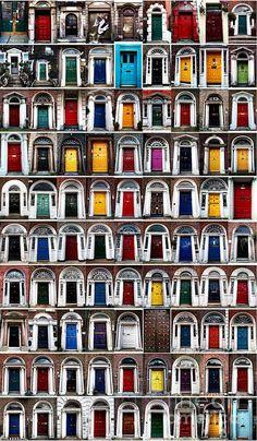 Ninety Dublin Doors...I've seen many of these around Dublin!