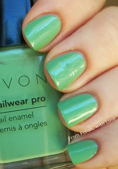 From Polish, with Love Avon Nailwear Pro in Jade