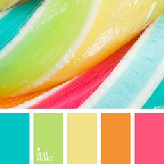 fresh, summer color palette