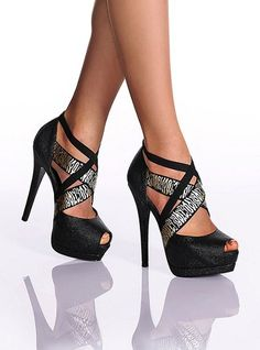 Crisscross Peep toe pump Victoria s Secret 24 |2013 Fashion High Heels|