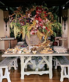 Natures Bounty...and love the faux boise table and benches...cabin perfect!