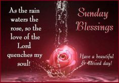 Sunday Blessings to all of you in the Lord..