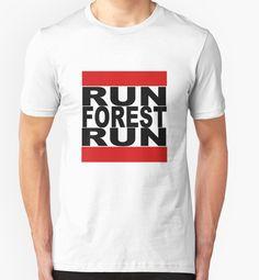 """Run Forest Run"" T-Shirts & Hoodies by barrelroll1   Redbubble"