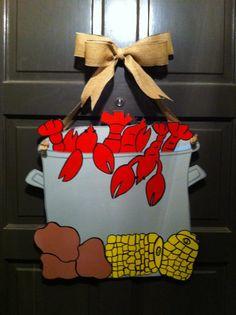 Crawfish Wreath Crawfish Door Hanger New by DoodleBugCraftsbyR, $50.00