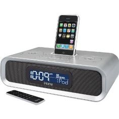 Amazon.com: iHome iP97 Dual Alarm Clock Radio for iPod and iPhone (Silver): Electronics