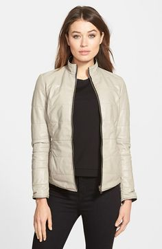 LaMarque Reversible Packable Leather Jacket available at #Nordstrom