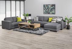 Omaha Fabric Chaise Sofa Pair   Amart Furniture