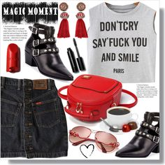 Don't Cry by queenvirgo on Polyvore featuring Yves Saint Laurent, Lanvin and Bobbi Brown Cosmetics