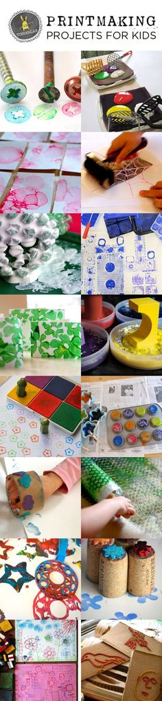 These simple printmaking projects for kids use everyday supplies and wont break your budget. Sure to please!
