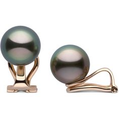 Clip Collection Tahitian Pearl Stud Earrings Pearl Paradise ($348) ❤ liked on Polyvore featuring jewelry, earrings, white pearl stud earrings, stud earrings, pearl clip earrings, pearl earrings and pearl clip on earrings