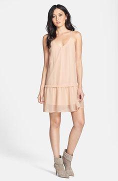 lace trim shift dress / astr