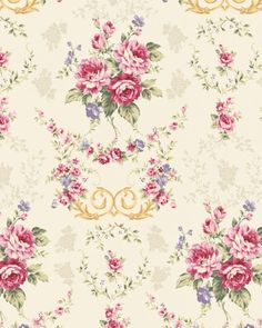 Kilala Antique Roses QMS3075214e cotton Fabric by agardenofroses, $11.00