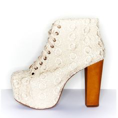 Cold Feet by Jeffrey Campbell Lita Lace, ivory at ashburyskies.com  **I want to wear these when I get married. SERIOUSLY