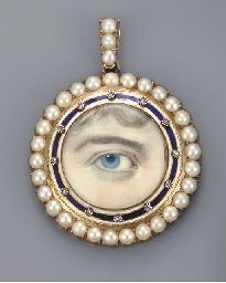 A lover's-eye brooch, Victorian Jewelry, Antique Jewelry, Vintage Jewelry, Bohemian Jewelry, Eye Jewelry, Jewelery, Lovers Eyes, Miniature Portraits, Mourning Jewelry