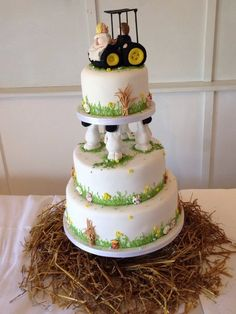 Farm Wedding Cake