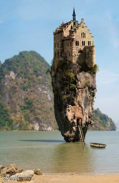 Castle on a rock. Ireland.awesome!!