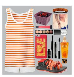 """""""Tuesday"""" by eemsles ❤ liked on Polyvore featuring Topshop, Uniqlo, Chaco, Keds, Lord & Berry, Victoria's Secret, Lane Bryant, NARS Cosmetics and Artland"""