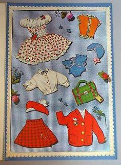 Un-Cut-Paper-Doll-Book-Vivi-w-Pop-up-Room-3-Dolls-amp-Costumes-c1960s-Denmark
