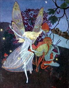 """Art by Dorothy Lathrop (1931) from the book, DOWN ADOWN DERRY - """"I Heard The Fairies In A Ring."""""""