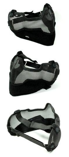 EbairSoft Airsoft parts & Tactical Gear - G TMC V2 Strike Metal Mesh Half Face Mask ( Neg BK Velcro ) TMC0873