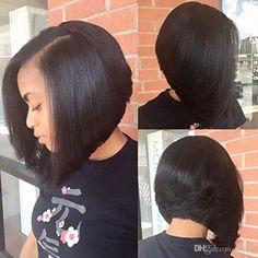 U Part Human Hair Wigs Bob For Black Women Unprocessed Virgin Brazilian Hair Bob u Part Wigs Glueless Short Bob Human Hair Wigs Curly Bob Hairstyles, Older Women Hairstyles, Straight Hairstyles, Curly Hair Styles, Black Hairstyles, Braided Hairstyles, Dope Hairstyles, Bob Haircuts, Formal Hairstyles
