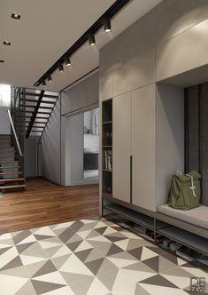 Hallway – Home Decor Designs Home Entrance Decor, House Entrance, Entryway Decor, Home Decor, Home Renovation, Home Remodeling, Basement Renovations, Apartment Front Doors, Garderobe Design