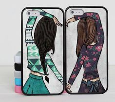 Sisters forever iphone 5 case Best Friend iphone 6 case iphone 5c case Couples lover for iphone 6 5 5s 5c 4 4s case cover skin case by binbinSupply on Etsy