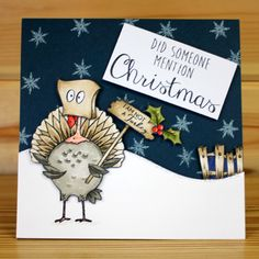 Christmas has arrived at Hobby Art! Introducing CS136D 'Daryl The Quirky Turkey' New Size A5 Clear set contains 22 stamps. Designed by Sharon Bennett. Overall size of set - 235mm x 155mm approx. Card by Becki Mayes