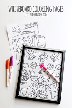 Turn these cute free coloring pages into Whiteboard Coloring Pages!