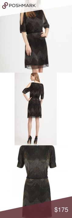 ALICE & OLIVIA CATALINA CUT OUT SILK BEADED DRESS ALICE & OLIVIA CATALINA CUT OUT SILK BEADED DRESS Black Metallic Size S $550  LIKE NEW!!! EXCELLENT CONDITION! Alice + Olivia Dresses Mini