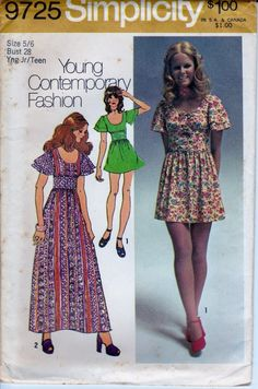 Had this dress pattern (70's) & made at least 2 different ones.  Not quite this short though.