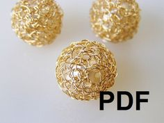 PDF Tutorial, DIY Pattern, Crochet Beads, Wire Crochet Jewelry, DIY Tutorial, Wire Beads. I can figure this out without paying...but a good idea;)