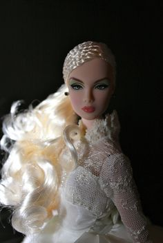 bride dolls Fashion Royalty, Grethel Sweet Nothing Barbie Hair, Doll Hair, Barbie Clothes, Chic Chic, Fashion Royalty Dolls, Fashion Dolls, Girl Fashion, Beautiful Dolls, Beautiful Bride