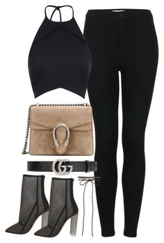 """""""Untitled #2932"""" by theaverageauburn on Polyvore featuring Topshop, Gucci, Rebson and New Look"""