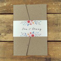 Inviti di nozze nozze invito rustico di StunningStationery su Etsy
