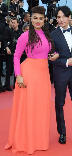 """Ava DuVernay in Greta Constantine attends the screening of """"Blackkklansman"""" during the 71st annual Cannes Film Festival. #bestdressed"""
