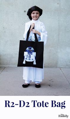 """R2-D2 is ready to join your family on weekend adventures. Store your belonging in this DIY R2-D2 tote bag inspired by """"Star Wars: The Force Awakens,"""" and get ready for an epic mission with the most devoted droid in the galaxy."""