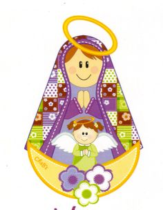 virgencita Religious Paintings, Religious Art, Jesus E Maria, Diy Angels, Arte Country, Towel Embroidery, Saint Nicholas, Blessed Virgin Mary, Bible Crafts