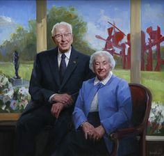 Mr. and Mrs. Fred Meijer - The Studio of Portrait Artist Michael Shane Neal - Original portrait paintings by Michael Shane Neal.