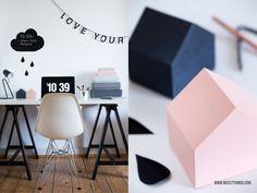 DIY: Tafelfolie-Wolke & Clean your working space up!