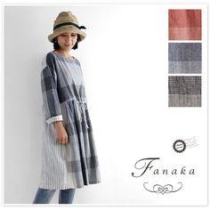 【Fanaka ファナカ】前後 柄 切替 ワンピース(71-2087-101)