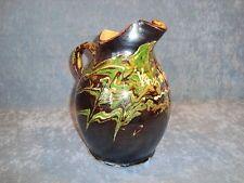 gros pichet broc terre cuite vernissee xix me poterie savoyarde grappe de raisin terres. Black Bedroom Furniture Sets. Home Design Ideas
