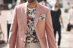 Don't be afraid to use some patterns/colours in the summer months like this fashionable gentleman. For a safe option you may want to take th...
