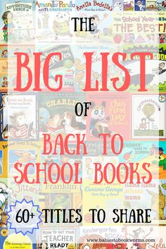Get kids ready for the new school year with 60+ back to school books!  Back to School Books | School Books | Books about School | Preparing for Back to School