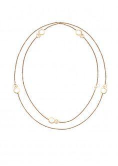 Chopard Necklace Happy 8 Sautoir Necklace 18-carat rose gold and diamonds