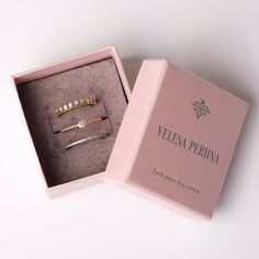 packaging Thin tiara stackable silver ring set, Eternity sterling stacking rings, Dot ring, Gift for girl, Princess stack ringset with CZ crystal Jewelry Logo, Jewelry Accessories, Cardboard Box Crafts, Packing Jewelry, Ring Set, E Commerce, Jewelry Packaging, Stacking Rings, Jewelry Organization